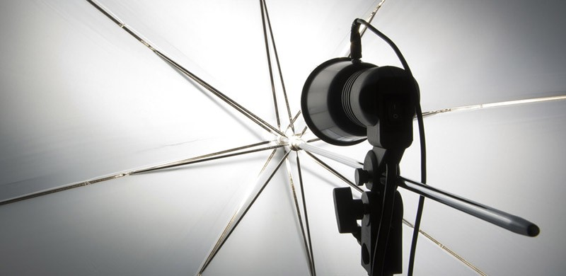 Photography set up with umbrella