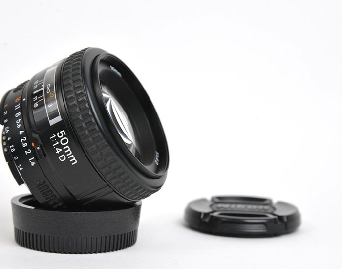 DSLR Camera Lens Isolated on White